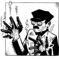 Cop Gun Hands