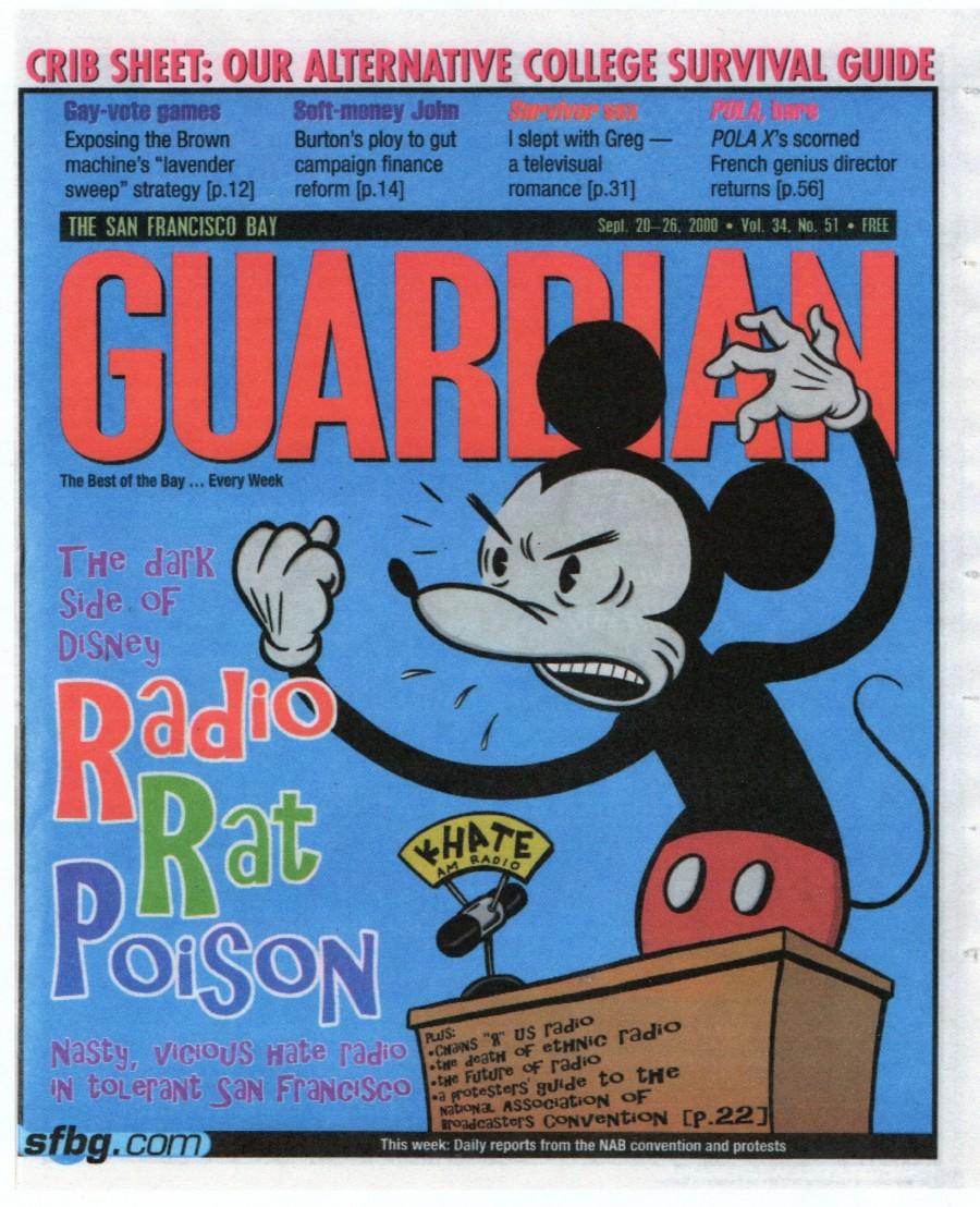 hate, mickey mouse, Wayne Shellabarger, Illustration, poster