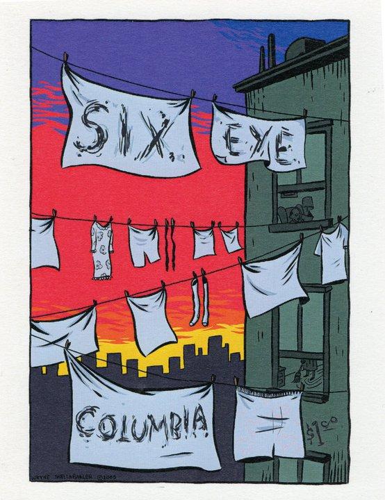 Wayne Shellabarger, Illustration, poster, six eye columbia, josh pollock